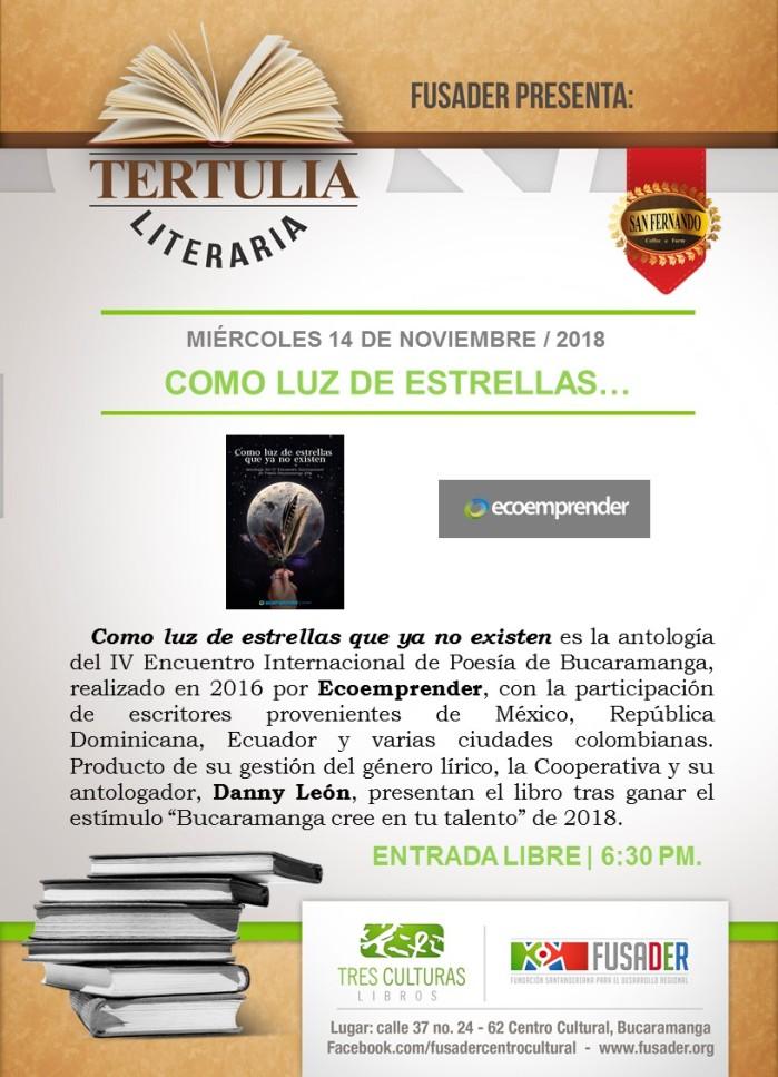 AFICHES (2018.11-14) ''Antología Poética 2016'' por Ecoemprender